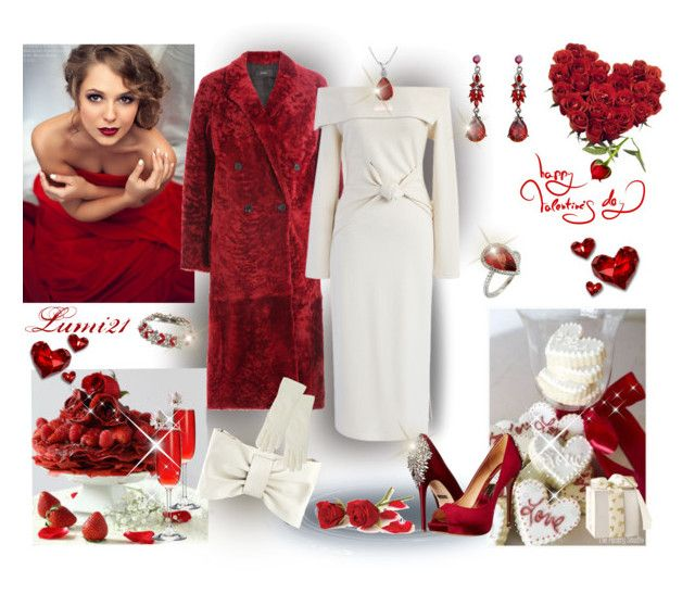 evening love by lumi-21 on Polyvore featuring Chicwish, Joseph, Badgley Mischka, RED Valentino, Ben-Amun, Isotoner and Poesia