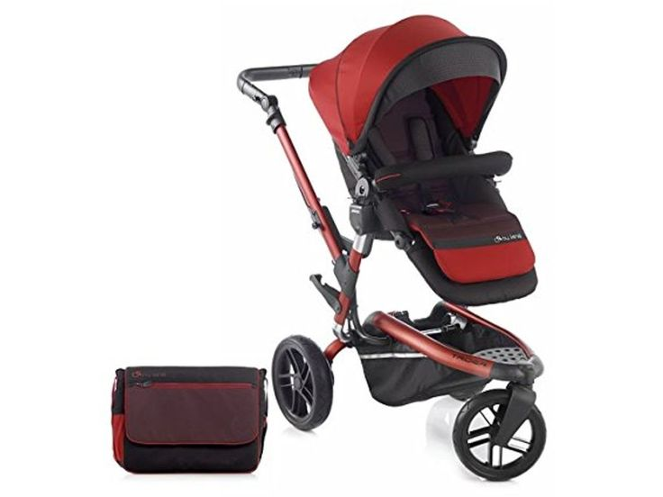 Jane Trider Pushchair off roader all terrain stroller with matching accessories Red