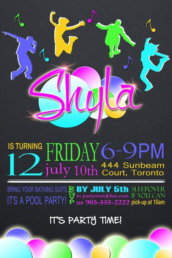 Dance party teen birthday, flintstones vintage sex