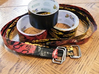 duct tape belts ~ so easy!
