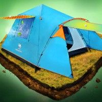 Best Cheap Sale Double Layer 3-4 Person Camping Hiking Water Rainproof Automatic Four Season Tent One Room One Hall