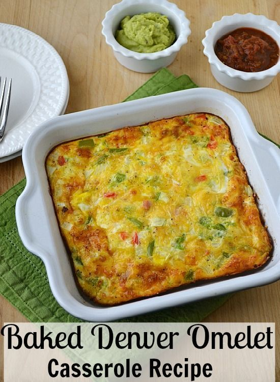 Baked Denver Omelet Casserole Recipe. This easy breakfast includes video instructions to show just how quickly this dish can be made.