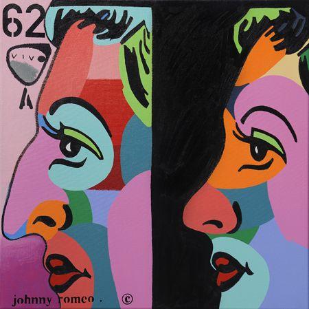 Johnny Romeo  62 Viva  - 2013   Acrylic and oil on canvas   71 x 71 cm