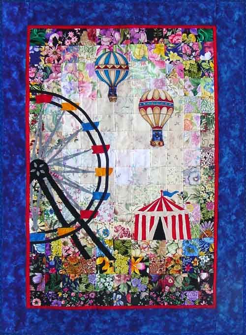 """Fun At The Fair"" Watercolor Quilt Kit – Whims"