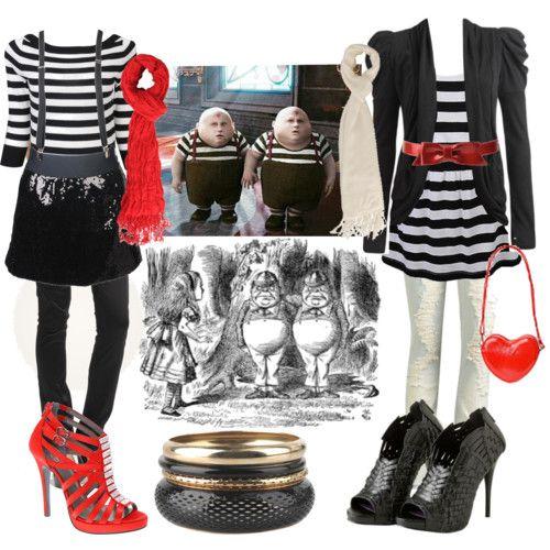 Alice in Wonderland Outfit: Tweedle Dum and Tweedle Dee