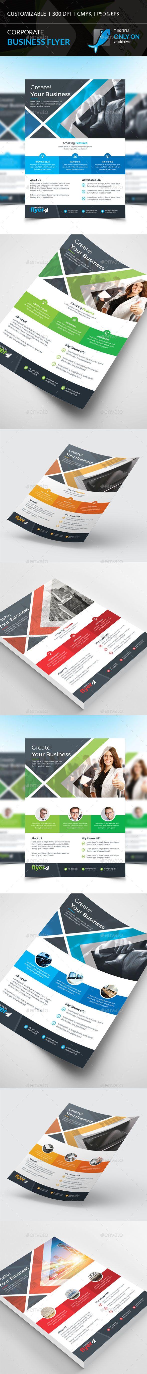 Corporate Flyer Template PSD, Vector EPS, AI #design Download: http://graphicriver.net/item/corporate-flyer/13841728?ref=ksioks
