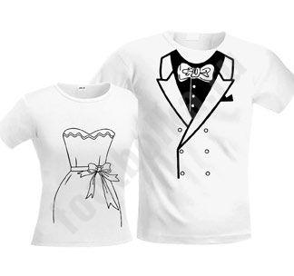 Парные футболки Свадебные белые - Футболка.ру