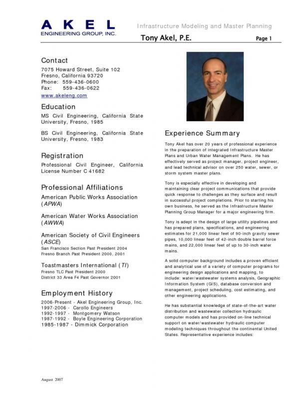Civil Engineer Resume Engineering Resume Job Resume Samples Civil Engineer Resume