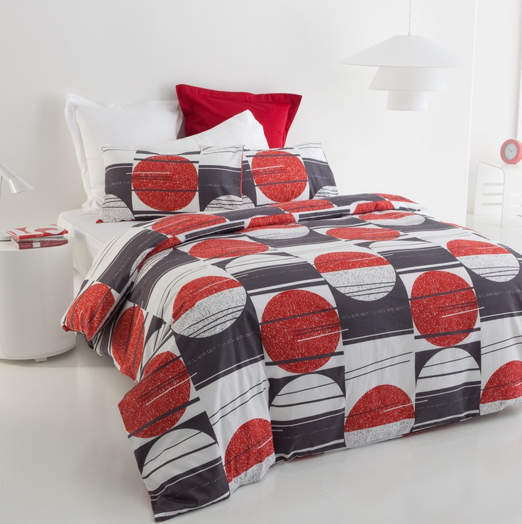 Red White Black Moon Queen Size Quilt DOONA Cover Set 300TC Cotton Sateen New   eBay