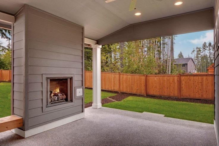 Traditional Porch with Fence, Exterior fireplace, Bulbrite dimmable led downlight retrofit recessed lighting kit