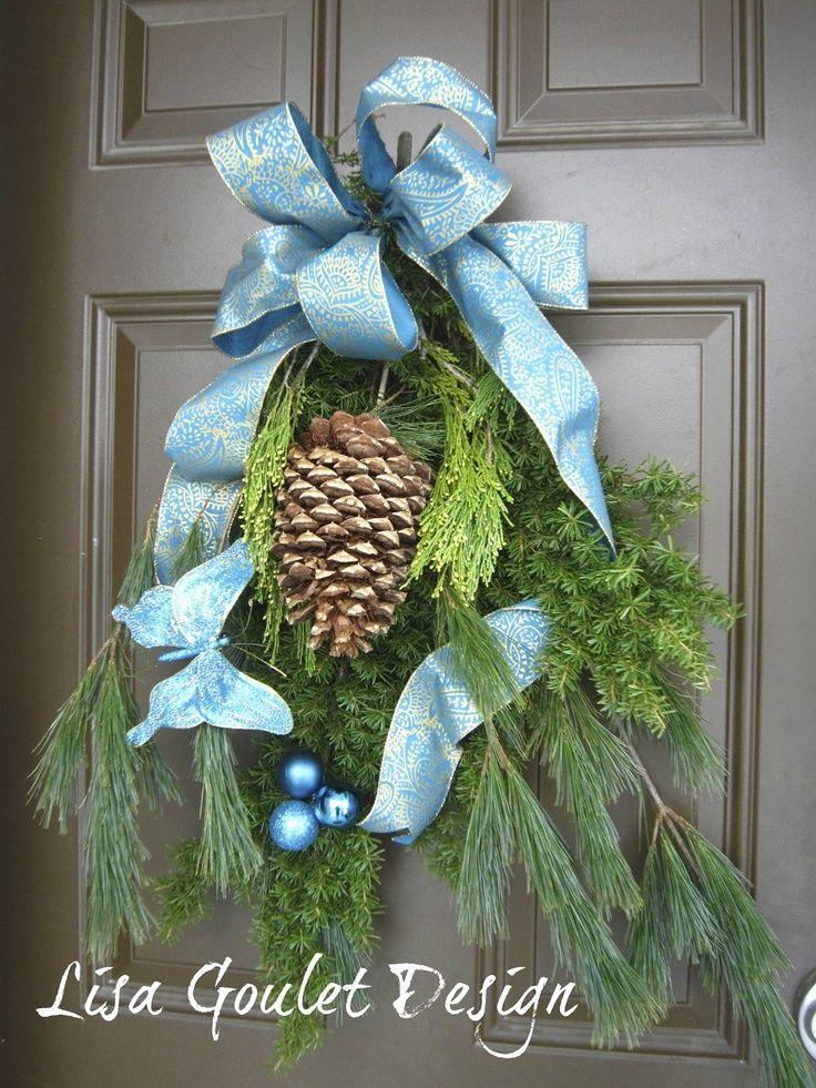 turquoise gold christmas | LISA GOULET DESIGN: TURQUOISE AND GOLD ... | Christmas: outdoor decor