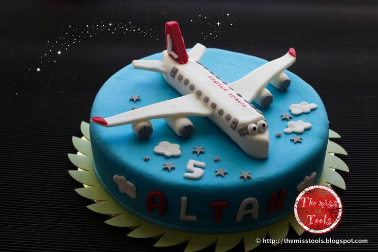 The Miss Tools: Torta compleanno Aeroplano - Fondant Airplane Cake Turkish Airlines