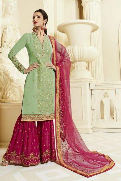 9cd5906e9f Fiona Present Maliaka Sharara Georgette Suit 22035 | DESIGNER ...
