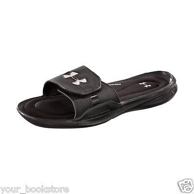 black under armour flip flops