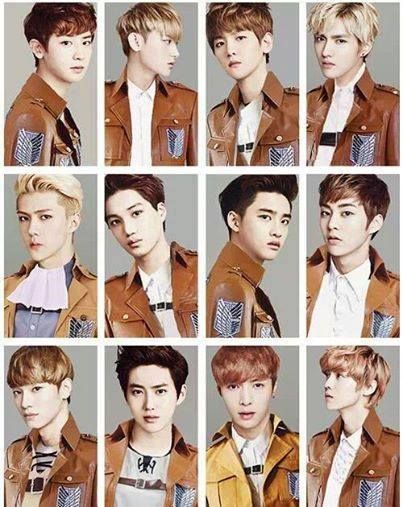 Attack On EXO (is Sehun Levi?) My little heart has burst, I can't take the fangirlisms...