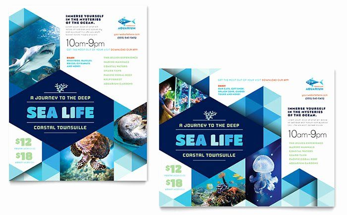 Microsoft Word Banner Template Beautiful Ocean Aquarium Poster Template Word Publisher Poster Template Design Poster Template Travel Brochure Template - ms word pamphlet template