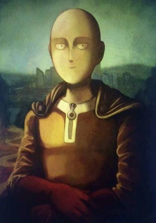 saitama - one punch man x mona lisa