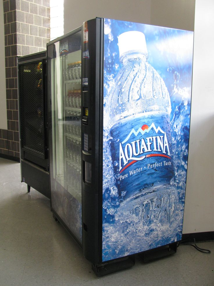 Good example of school vending machines promoting healthier beverages.  Photo from Hall High School, Little Rock, AR.