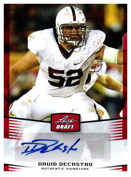 435432ba5 ... 2012 Leaf Draft David DeCastro Rookie Autograph Card Pittsburgh Steelers  ...