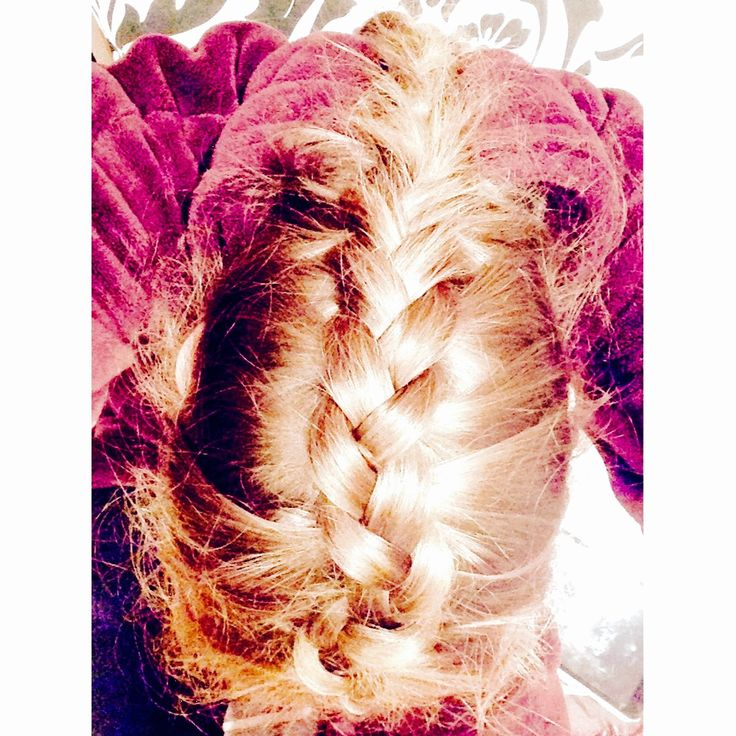 Finally taught myself to French/Dutch plait my own hair.