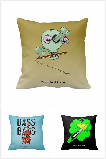 Funny Fun Throw Pillows.Funny and creative throw pillows for children and cool adults, designed by Early Kirky. Weird, Wonderful and Fun!