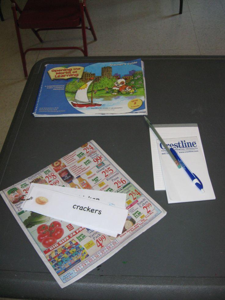 unit 2 writing table shopping lists preschool literacypreschool ideaswriting