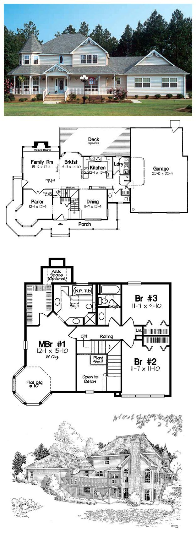 49 best hillside home plans images on pinterest house for Country living house plans