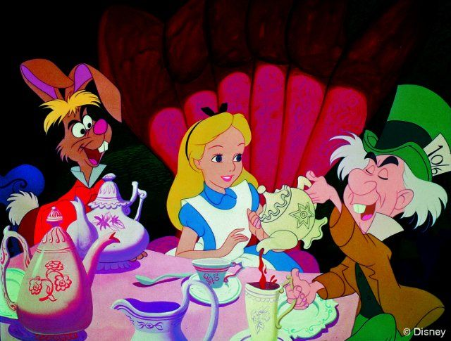 My favorite movie :) I collect Alice in Wonderland items from tea sets to snow globes, sheets, stuffed animals & photo frames.
