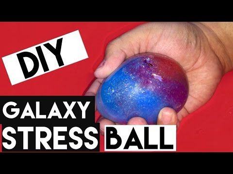 DIY | Galaxy Stress Ball - HOW TO MAKE A STRESS BALL GALAXY / NEBULA!!!