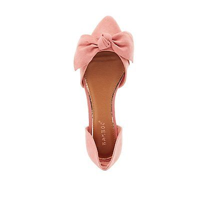 Pink Knotted Pointed Toe Flats by Bamboo - Size 8 .5