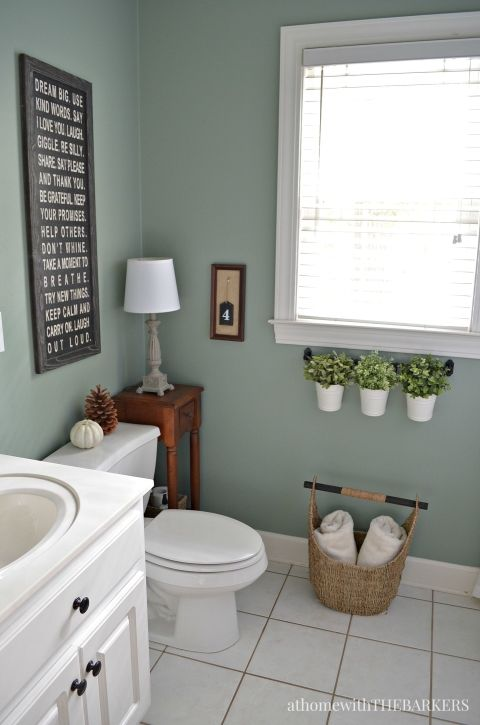 Holiday ready room refresh paint colors the plant and for Green color bathroom design