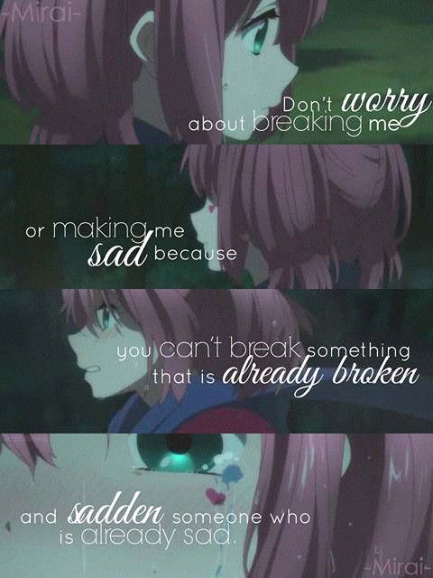 Anime Sad Girl Quotes Pics: 3617 Best Images About Sad Anime Quotes On Pinterest