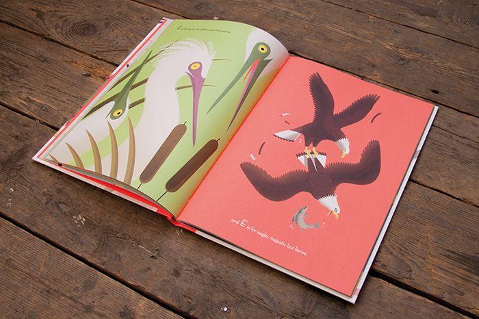 Emmanuelle Walker - Beautiful Birds  E for Eagle  Tiphaine-illustration  #alphabet #eagle