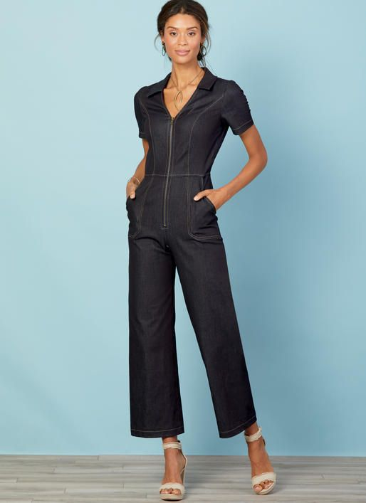 0941520da0 M7908 Misses  Miss Petite Jumpsuits Jumpsuits have fitted bodice with  princess seams