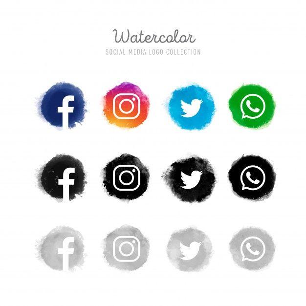 Download Watercolor Social Media Logo Collection For Free Social Media Logos Facebook And Instagram Logo Social Media Icons Free