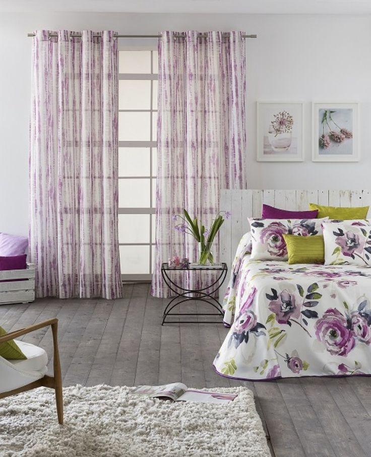 20 best decorar con telas ambientes actuales para dormitorios y salones images on pinterest - Cortinas actuales para salon ...