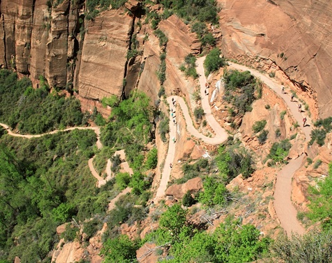 Angles Landing in Zion National Park USA