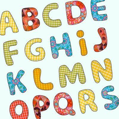 Buchstaben Applikationen als Vorlage