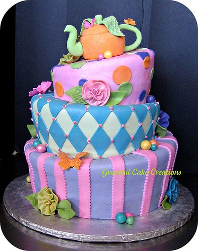 Sweet Sixteen Mad Hatter Tea Party Birthday Cake