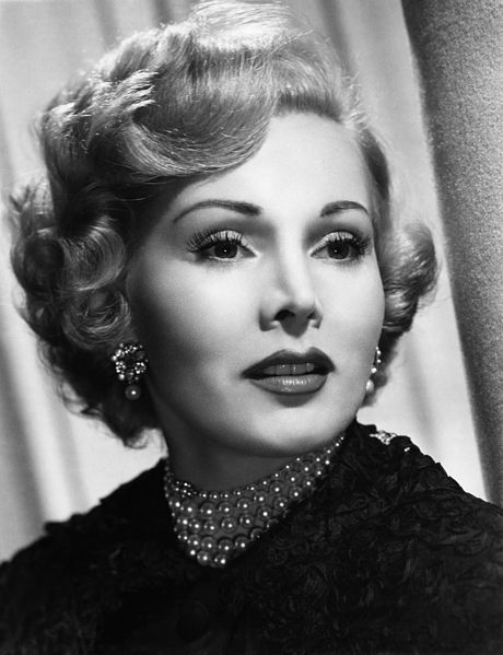 Hungarian actress, Zsa Zsa  Gabor youngest of the Gabor sisters.