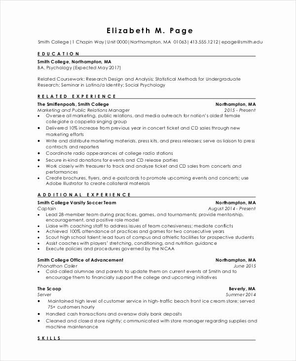resume format for freshers new resume relevant coursework