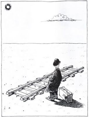 I grew up on Argentinian comics master Quino - his 'Mafalda' was a highly political, very depressing Peanuts-type strip with bold and inventive drawing. My Argentinian father had collections of his equally depressing and beautiful political cartoons.