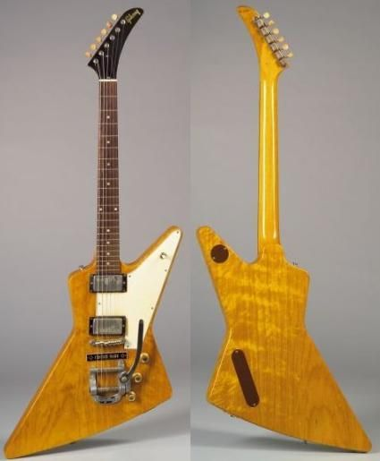 1958-'59 GIBSON EXPLORER, MOST EXPENSIVE GUITARS