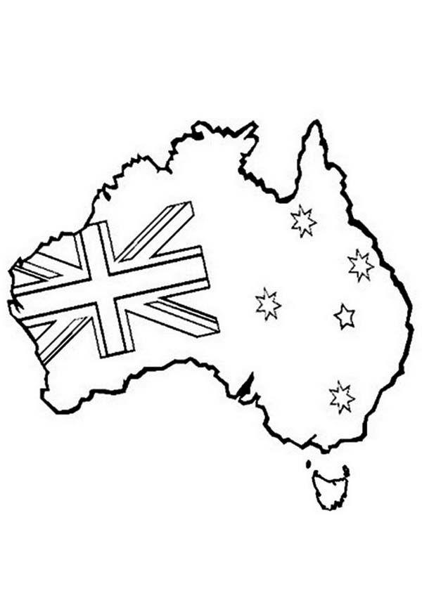 Australia Day Australia Map And Flag For Australia Day