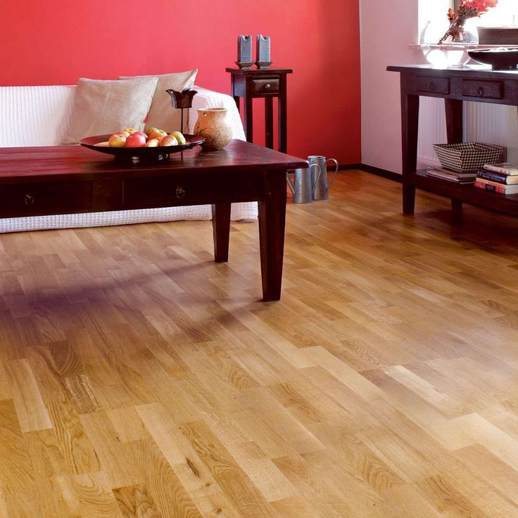 Natura Oak Brooklyn Wood Flooring is a 3 strip engineered wooden floor with a rustic appearance. Oak Brooklyn has a satin lacquer finish that is hardwearing and easy to clean. Engineered oak floors will add a touch of classic elegance and beauty to any living space.