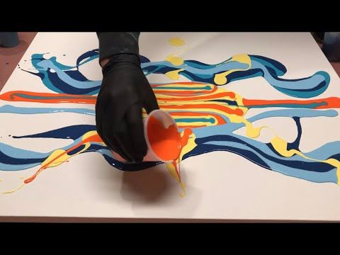 Fluid Painting ACRYLIC PAINT BLOW OUT? Wigglz Art A Must See!! Easy Beginners Technique!! HUGE CELLS – YouTube
