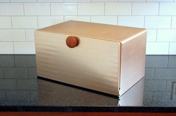 Upper Crust… Vintage Mirro Aluminum Bread Box - Copper Tone, 1960s, Midcentury, Modern, Made in U.S.A.