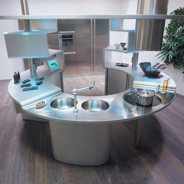 die besten 25 runde k cheninsel ideen auf pinterest. Black Bedroom Furniture Sets. Home Design Ideas