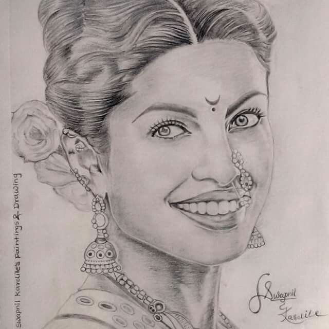 Pencil drawing priyanka