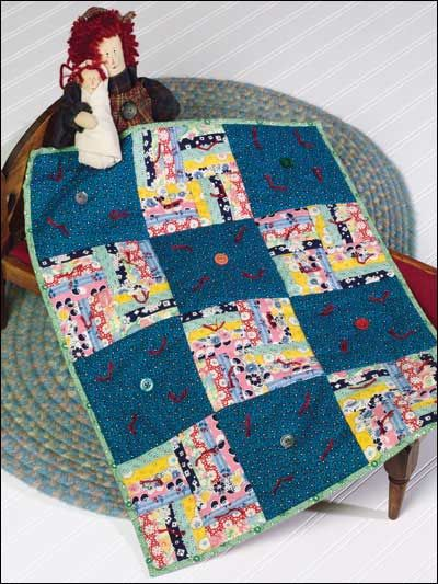Free Old Fashioned Scrappy Baby Quilt Pattern Download